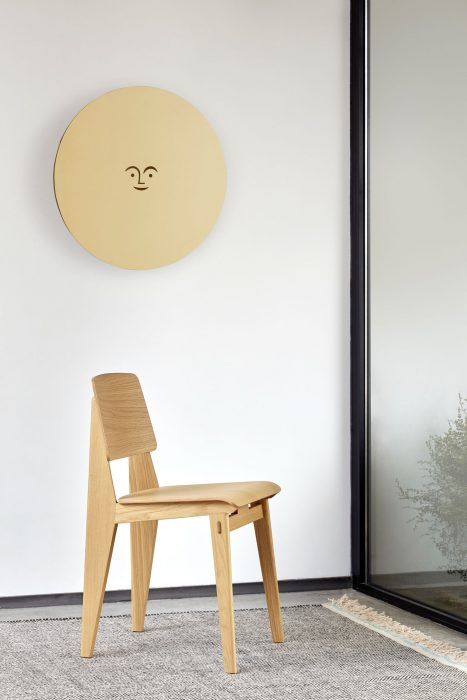 Chaise Tout Bois wooden chair by Vitra in bright playwood